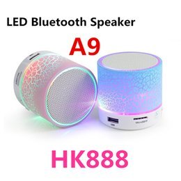 Wholesale A9 New LED Wireless Speaker Portable Mini Bluetooth Speakers With Smart Bulb Support TF Card USB For IPhone Samsung Xiaomi MP3