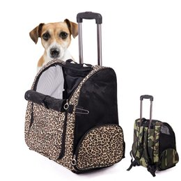 Wholesale High Quality Portable Dog Bag Travel Tote Trolley Luggage Puppy Rolling Carrying Kennel Backpack Pet Carrier HB0039 salebags