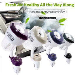 Nanum Car Aromatherapy Diffuser Essential Oil Diffuser With Dual USB Port Charger Power Protection Car Air Purifier Car Diffuser II