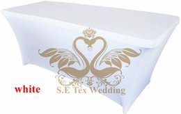 White Color Lycra Spandex Table Cover \ Table Cloth For Wedding