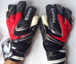Wholesale whole professional reusch goalkeeper gloves Finger protection latex soccer goalie protective gloves footbal sport goal keeper gloves