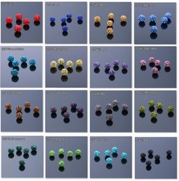 Wholesale 1000 mm color Micro Pave CZ Disco Ball Crystal Shamballa Bead Bracelet Necklace Beads DIY hot Stock Mixed