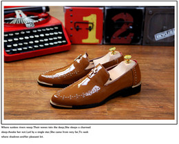 2016 Fashion genuine leather Oxford Shoes for men , Slip-On rivet men Dress Shoes mens Shoes white Wedding Shoes D11