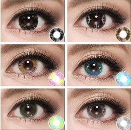 Wholesale Colorful Cosmetic contact lenses for eyes Beauty Girls series yealy use DIA mm Coloured contacts eye color Freeshipping