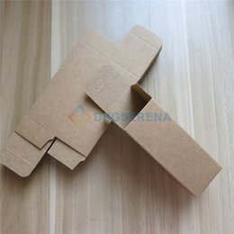 100pcs lot- Kraft Paper Box Essential Oil Perfume sample box Cosmetic Gift packaging box- multi sizes available