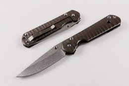 Wholesale Special offer Chris Reeve Sebenza Large Knives CR Folding Knives C HRC Stonewash finish blade CNC milling Mercerized Steel handle