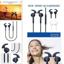 Wholesale For Samsung S6 S7 Cell phone Sport Earphone Handfree With Mic Bass Headphone Headset Earbuds For Samsung Galaxy S4 S5 S6 S7 Cell phone HF
