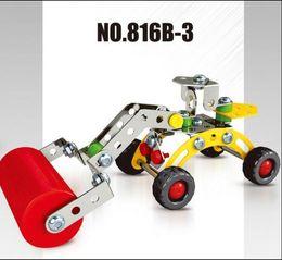 Wholesale 2016 HOT iron commander DIY intelligence toys for children aged excavator loader shovel navvy toy