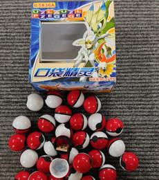 Wholesale 36pcs Cute mon Poke Master Ball Pop up Poke Ball Mini Mega Model Classic Action Figure Night luminous Toys