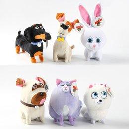 Wholesale 14 cm The Secret Life Of Pets New Cotton Movie Plush Toys Max Snowball Gidget Mel Chloe Buddy Animals Doll Stuffed Toys Baby Gift