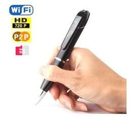 720P Wireless WiFi pen camera Hidden Pen Video Camera for Android and IOS, H.264 Mini WiFi Pen With Built-in Camera DVR