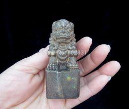 Fine China Fragrant Wood Carved Excellent HandWork Statues-Lion
