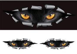 Wholesale Pair Cool D Car Styling Funny Cat Eyes Peeking Car Sticker Waterproof Peeking Monster Auto Accessories