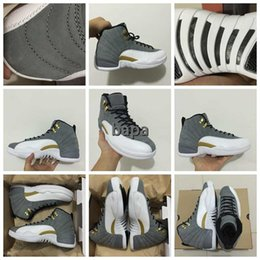 Wholesale 2016 New Mens Basketball Shoes Retro XII Sneakers Men Women Taxi Playoffs Replicas Gamma White Gray Blue Retros Shoes Sports Trainers