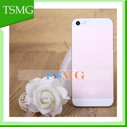Wholesale 4 inch metal i5 SE Dual Core MTK6572 goophone iSE Phone call with MB GB can show GB GB Sealed box colors in stock