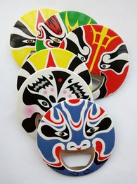 New Fashion China Beijing Opera Facial Masks Metal Bottle Opener With Manget Mukti-Color