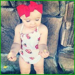 Wholesale 2016 newest cute baby boys girls infant rompers children bodysuits lovely animal patterns print yellow red jumpsuits