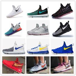 Kd chaussures de vente mens à vendre-2016 Hot Sale KD 9 oiseau de Paradis chaussures de basket-ball pour hommes KD9 Kevin Durant 9s chaussures de sport d'entraînement Taille de la maison 7-12