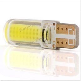 Wholesale 100PCS T10 W5W COB smd Silica Gel Led Car Interior Door Light Bulb NEW