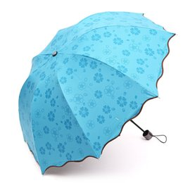 Wholesale 2016 sales umbrella creative encounter water bloom is prevented bask in ms vinyl protection umbrella sun umbrella sunshade folding umbrella