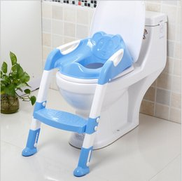 Wholesale 2016 New Design Portable Folding Ladder Toilet Baby Potty Training Chair Plastic Toilet Stand Seat for Children Baby Loves