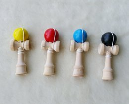 Wholesale 8cm cm Jade Sword Factory Outlets Boutique Traditional Beech Game Kendama toy Japanese Wooden Toy PU Paint Tribute