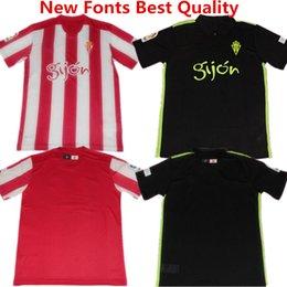Wholesale Soccer Jerseys Real Sporting Gijon camisetas de futbol Nacho Cases Carlos Castro Football Shirts Sporting Gijon Home Maillot de fo