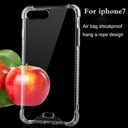 Wholesale Air bag shockProof TPU Soft silicone Cover case for Iphone7 Iphone7 plus high quality clear transparent case