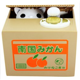 Wholesale Super Cute Panda Automatic Piggy Bank Creative Money Box Kids Gifts Cat Mouse Pig Steal Coin Bank Save Box Models