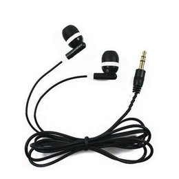Universal Cheapest 100PCS LOT Disposable Black Colorful In-Ear Earbuds Earphone For IPhone 4 5 6 Headphones MP3 MP4 3.5mm Audio DHL Free