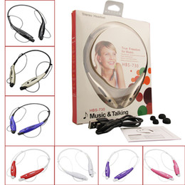 Wholesale HBS Headphone Stereo Bluetooth Sport Wireless Neckband Headset with Micphone for iPhone Smartphones with Retail Package