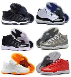 Wholesale online cheap New Air Original Retro Shoes Retro Basketball Sneakers Men Grey JXI XI Low Man Bred Georgetown Space Jam Citrus GS