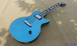 Wholesale New brand electric guitar metalic blue finished only neck pickup can be customised