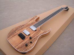 Acabado mate en venta-Guitarra eléctrica del ST de la nueva guitarra eléctrica del ST spalted tapa de la llama, efecto mate mate del color natural acabado!