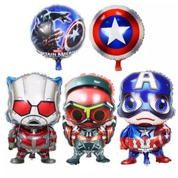 Wholesale New arrival Super hero alliance Foil balloons Avengers Captain America Steel ball chivalry birthday party decorations
