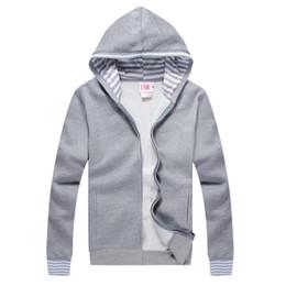 Wholesale New autumn winter Men classic Small croc LIVE hoodies long sleeve fleece sweatshirts full zipper sport