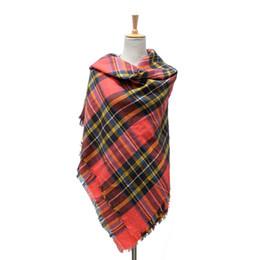 Wholesale za major Winter Tartan Scarf Plaid Scarf cuadros New Designer Unisex Acrylic Basic Shawls Women s big size Scarves