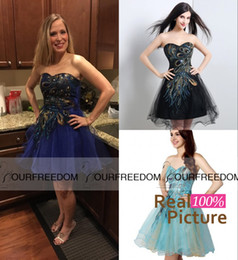 Wholesale Under Real Buyer Show Short Prom Party Formal Cocktail Dresses Sweetheart Cheap Homecoming Graduation Dress In Stock