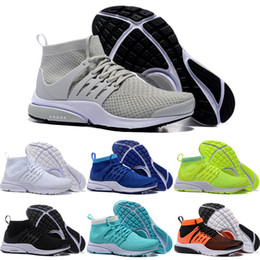 Wholesale 2016 New Running Shoes Men Women High Quality Hot Sale Authentic Presto Sneakers Cheap Gray Air Walking Sports Shoes Size
