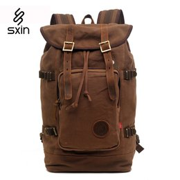 Vintage Men's Backpacks Rucksack Canvas Shoulder Bags Luggage Travel Hiking Camping Backpack Bag 8166