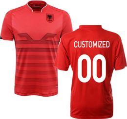 Wholesale Retail Camisetas De Futbol Albania Jersey Soccer Uniforms Euro Cup Albania national team Jersey Mens Football Shirts