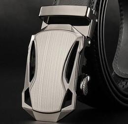 Compra Online Cinturones de cuero-Correa de cuero de doble cara de la correa de la hebilla automática de los hombres de lujo de la manera Tamaño: los 110cm-120cm