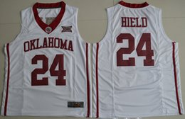 Wholesale 2016 Oklahoma Sooners Buddy Heild Hype Elite College Basketball Jersey White Color Embroidered Jerseys Free Drop Shipping