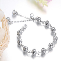 Free shipping Hot sale Jewelry Pulseras Fashion Silver Bracelets for Women Charms Bracelets & Bangles High Quality