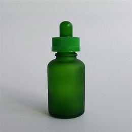 DHgate Hoting Sale Frosted Dark Green 30ml E Juice E liquid Glass Bottle With Childproof Cap & Rubber Topper Free shipping On Sale