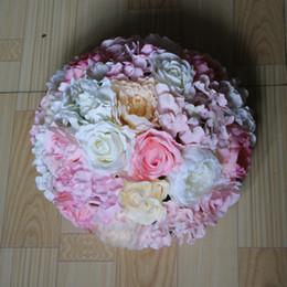 Wholesale EMS CM wedding paths guide road lead flower hydrangea flowers flower decoration balls table centerpiece