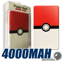 Wholesale High quality Poke power bank mAh for Poke AR game powerbank with Poke ball LED light portable charge figure toys