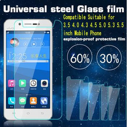 Tempered Glass Screen Protecter for universal 4.5 4.7 5.0 5.3 5.5 inch Mobile Phone Glass Protector Anti-scratch