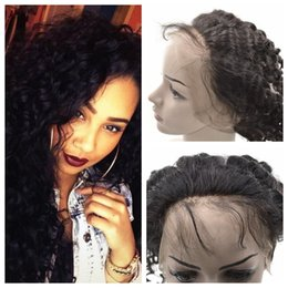 Wholesale 360 Lace Frontal Closure With Baby Hair Malaysian Human Hair Deep Wave Curly Lace Front Closure With Elastic Band