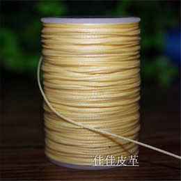 new hand stitched flat wax thread DIY 0.8mm small 150D polyester flat wax line sewing thread leather tool length 80m